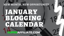 Blogging Calendar Template for January 2020